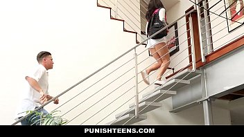 punishteens - naughty sexy intercourse video rachael madori gets punished and gagged by stepfather