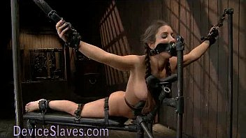 pretty babe immobilized in dollywinks videos metal devices