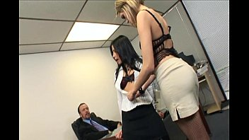 catfight turns naked women over 40 to secretary office threesome