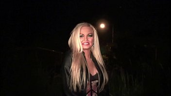 hot blonde girl decides to go to a public rebtude gang bang dogging orgy with strangers