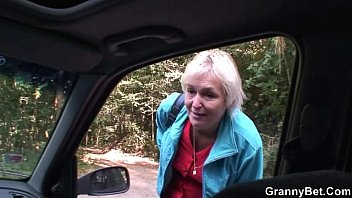 jailbay granny is picked up from the road and fucked