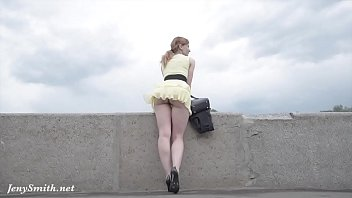 jeny smith public flasher shares great upskirt views on barbara eden nude the streets