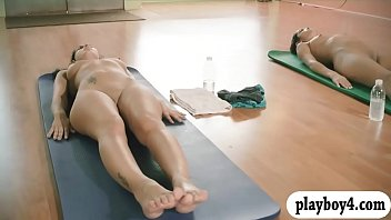 sexy girls hot yoga session sexy come while nude
