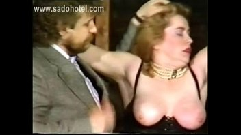 slave with big pornyou com tits got tied with chains and got fingered and hit on her pussy by angry master