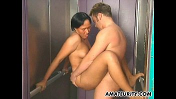 amateur couple hardcore action forced creampie compilation in a lift
