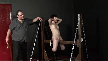 wooden yoyporn horse punishment of japanese mei in whipped dungeon punishment and bdsm