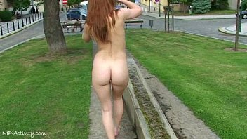 hot redhead denisa girls that love cock naked on public streets