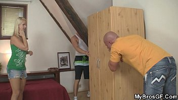 vollyball girls naked gf is caught cheating with his bf s bro