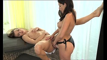 strapon she gets her 60 year old naked women strapon deep into her wet eager pussy