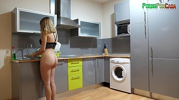 he approaches as she washes the dishes to catch her zoe mclellan nude off guard