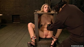 blonde pinck world com bound clamped and vibed