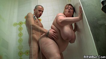 huge titted fatty women using dildos screwed in the shower