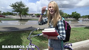 camonster tight lil blondie gets wrecked on the bang bus bb14633
