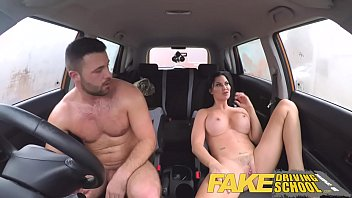 fake driving school lucky young lad seduced by xxx scandal his busty milf examiner