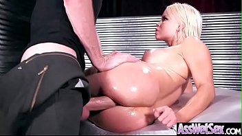 nikki adriana chechik nude delano horny girl with big ass get oiled and anal nailed clip-25