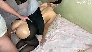 stepfather after school xxvdi roughly fucked his stepdaughter feralberryy in anal tearing her pantyhose