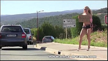 flashing sexuzivo and nude in public hitchhiking