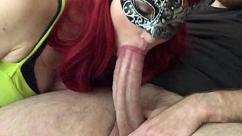 masked redhead returns lele pons nude for more big dick sucking part 2