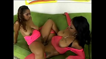 two pussy licking black bi girls in pink lingerie suck and angela white nude fuck each others cunt