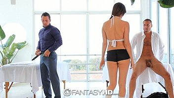 hd fantasyhd - naked people having sex holly michaels massages two guys turns into threesome