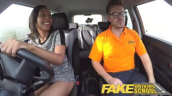 fake driving school pretty black girl seduced cheerleader pussy by driving instructor