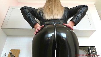 beauty bella porntube1080 and other girls walk in leather leggings and get fucked