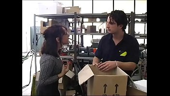 sexy secretary www ass4all com in a warehouse brutally fucked by workers