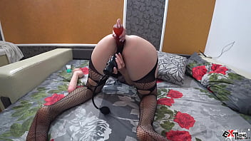 brunette sensual play sexigirl pussy dildo and vibrator - double penetration