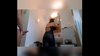 he does the voyeur and girl showing their vagina ends up fucking the stepmom