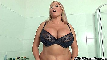 blonde milfs with pussy gif drop big tits give their pussy a treat