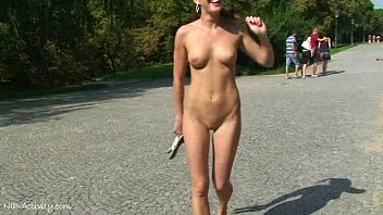 spectacular public smutcam nudity with crazy babe laura and friends