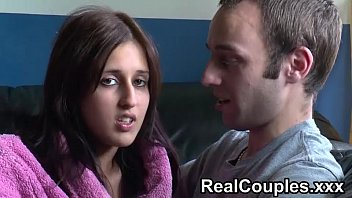real couple zarina and jay chat before painful anal forced having sex