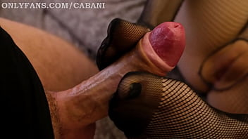 hot maid really likes to please her sex door neighbors boss - footjob and blowjob