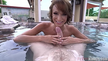 hot petite xxx vedio step-sister emma hix gets fucked in hot tub.