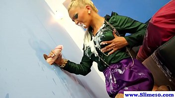 hot 69taxi blond euro bukkake babe gets facial from gloryhole