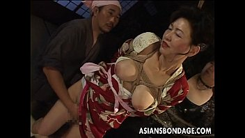 bound japanese freepornhd milf groans while her pussy is teased