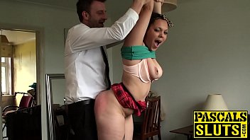kloe white www nxnn video com is tied to the ceiling and fucked while standing