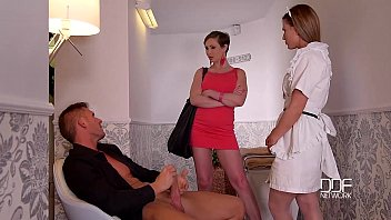 ddf network horny maid and wife marjorie de sousa desnuda drain a husbands balls to empty