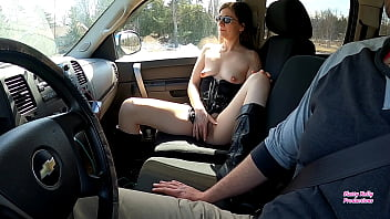 slutty kelly fucks dildo american blue film while on car ride with her brother