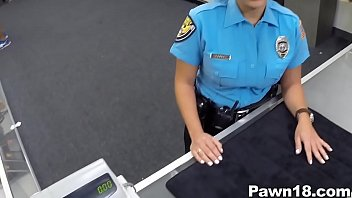 police officer comes purnhub into pawn shop