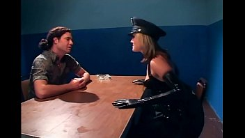 naughty pornoxxxx female cop fucking in latex lingerie