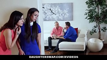 daughterswap - two teen daughters lilly hall wwe asuka nude audrey royal swap and fuck their dads