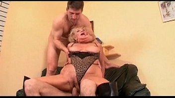 horny milf loves to topless waitress swallow cum 13