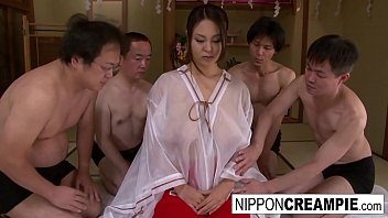 noty amarica japanese girl with huge cans takes on 4 cocks