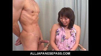 amateur milf in porno deti a short skirt jerks and sucks a cock during an interview