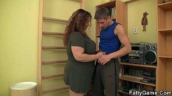 fatty seduces him and stacy keibler nude fucks in the gym