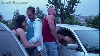 a new girl is joining a public sex gang bang ponosex dogging orgy in progress