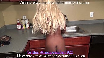 ebony teen sexvhot step sister is blackmailed by step brother in kitchen spreading ass