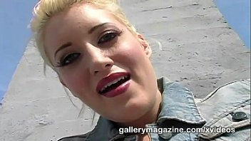 kimberly kane pornzee is a blonde hottie masturbating on the rooftop
