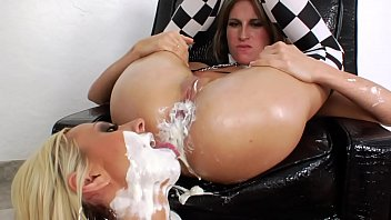 lesbo babe eating cream mariloup wolfe nue out of asshole